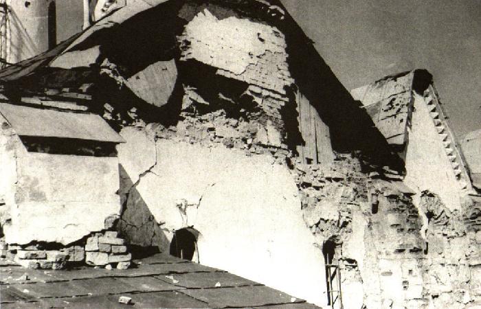 Софийский собор после разрушений в годы Великой Отечественной войны. 1944 г.