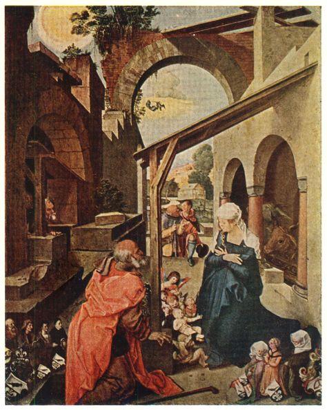 Рис.1. Рождение Христа. Центральная часть Паумгартнеровского алтаря.