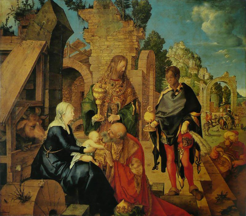 Рис.2. «Поклонение волхвов» Иисусу 1504-1505.