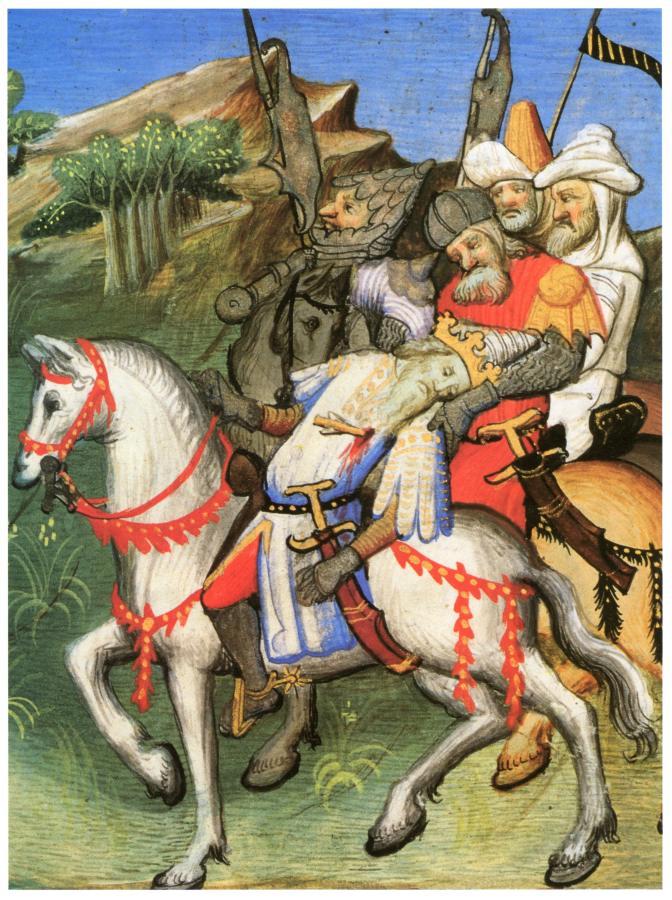 """Рис.8. Смерть Чингиз-хана из """"Le Livre des Merveilles""""."""