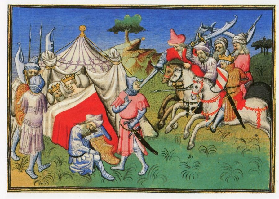 Рис.9. Битва между Великим Ханом Хубилаем (Кубилаем) и его дядей Наяном.