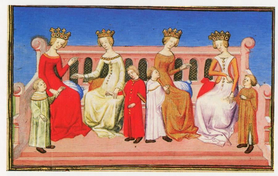 Рис.10. Четыре жены и дети хана Хубилая.