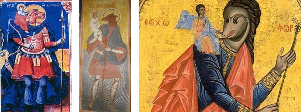 Рис.17. Несущий Христа Святой Христофор – кинокефал.