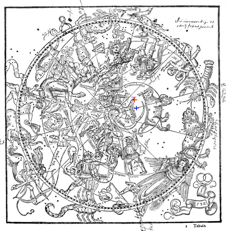 Рис.20. Карта Альмагеста, якобы выпущенного в 1551 г.