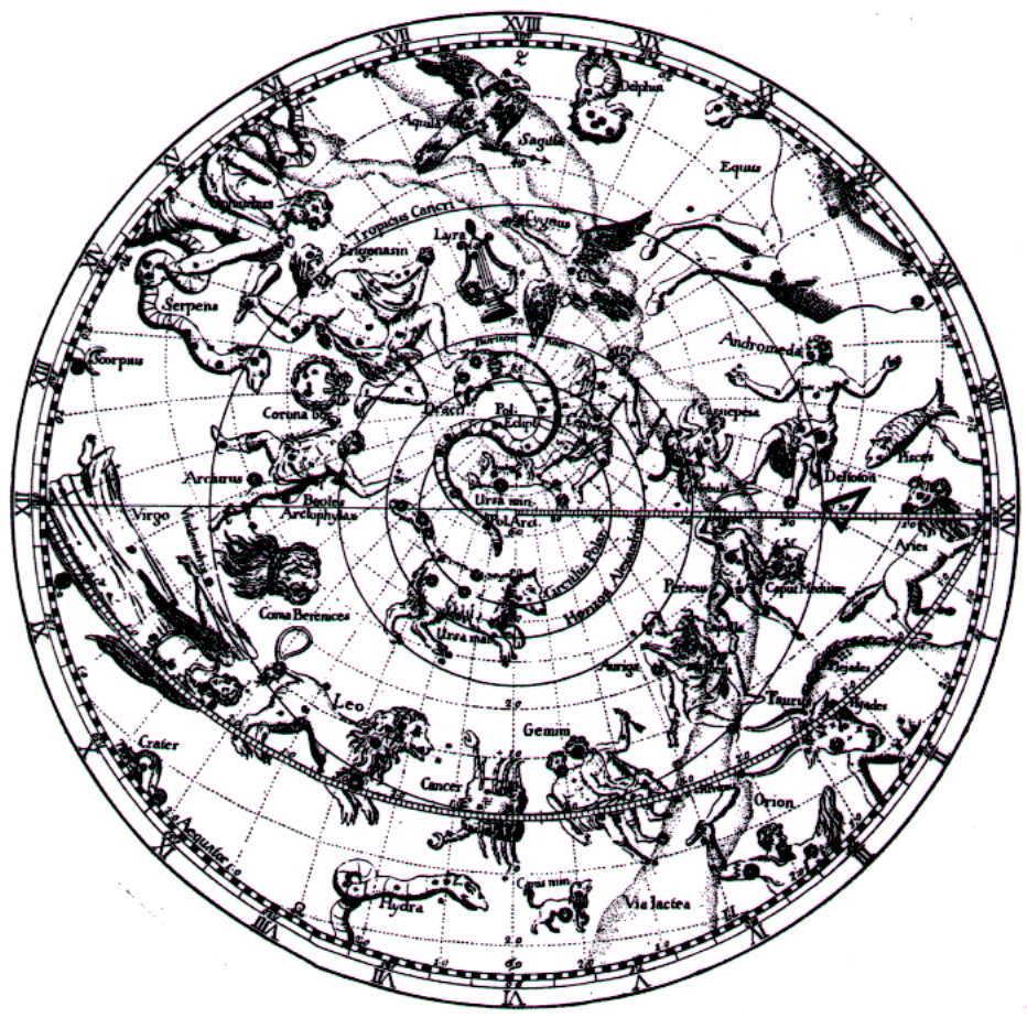 Рис.22. Карта Северного полушария из издания « Катастеризма».
