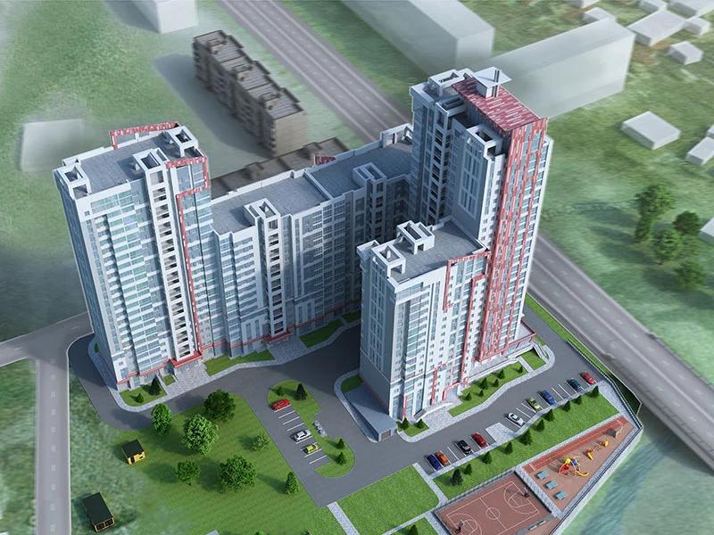 Отсутствие света на первых этажах даже при яркой солнечной погоде гарантировано жителям этого жилого комплекса