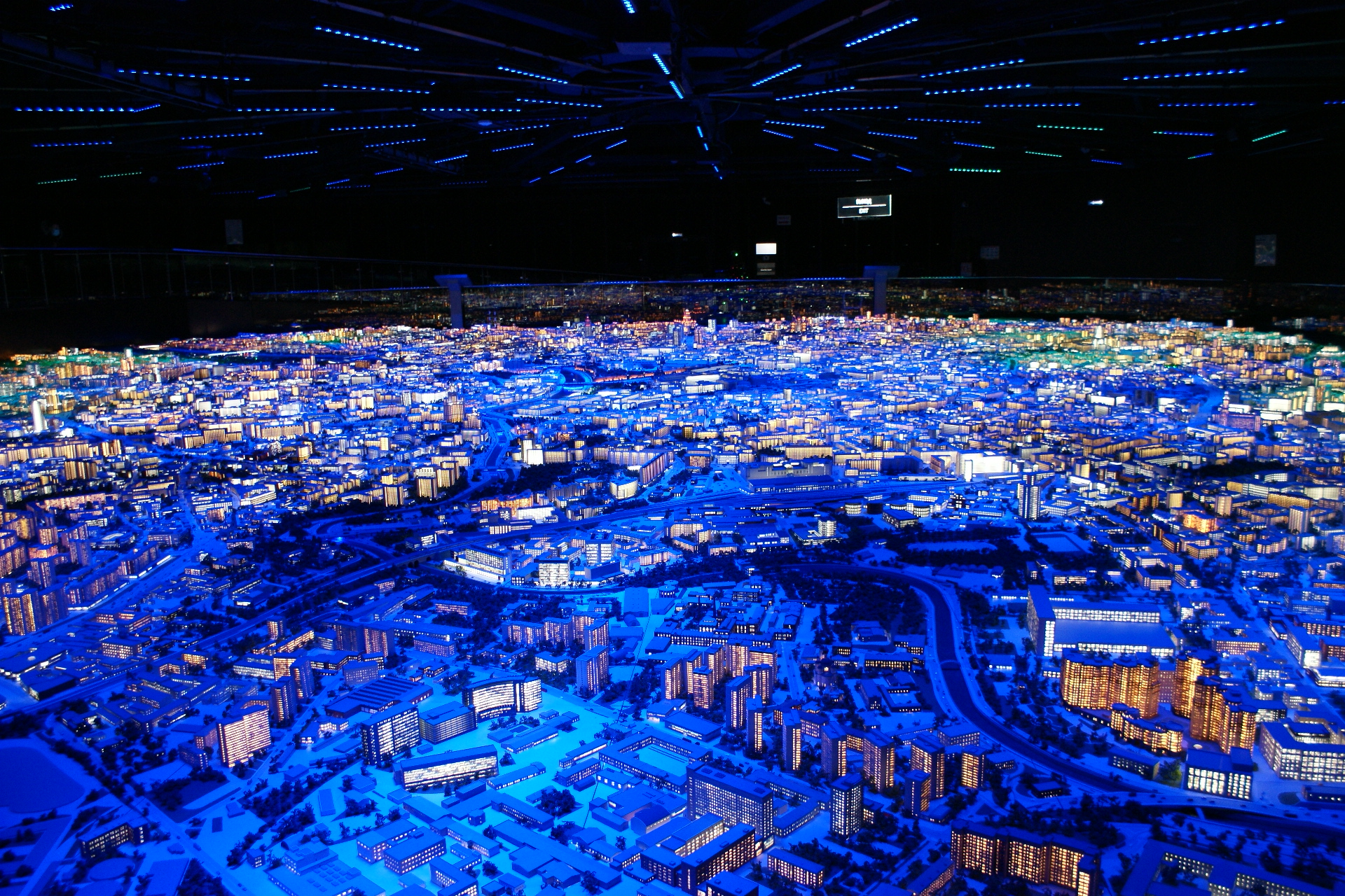 Макет Москвы. Ночная подсветка