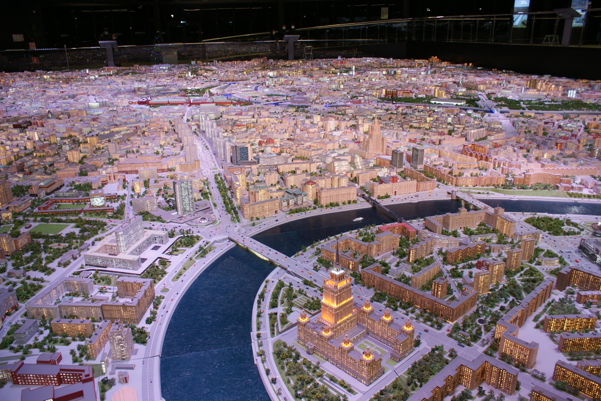 Центр Москвы. Фото с макета