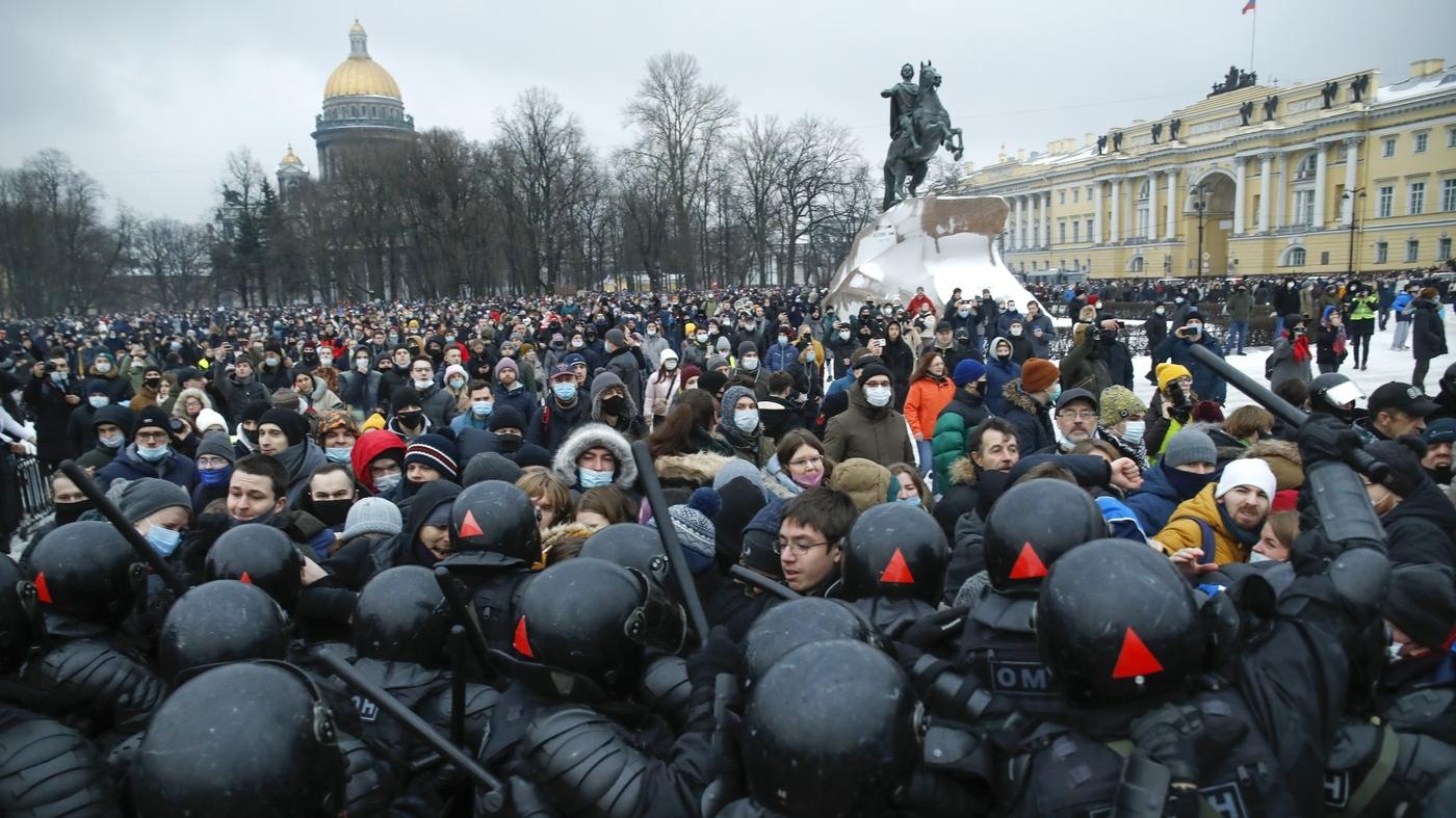 Акция протеста. Санкт-Петербург. 23 января 2021 г.