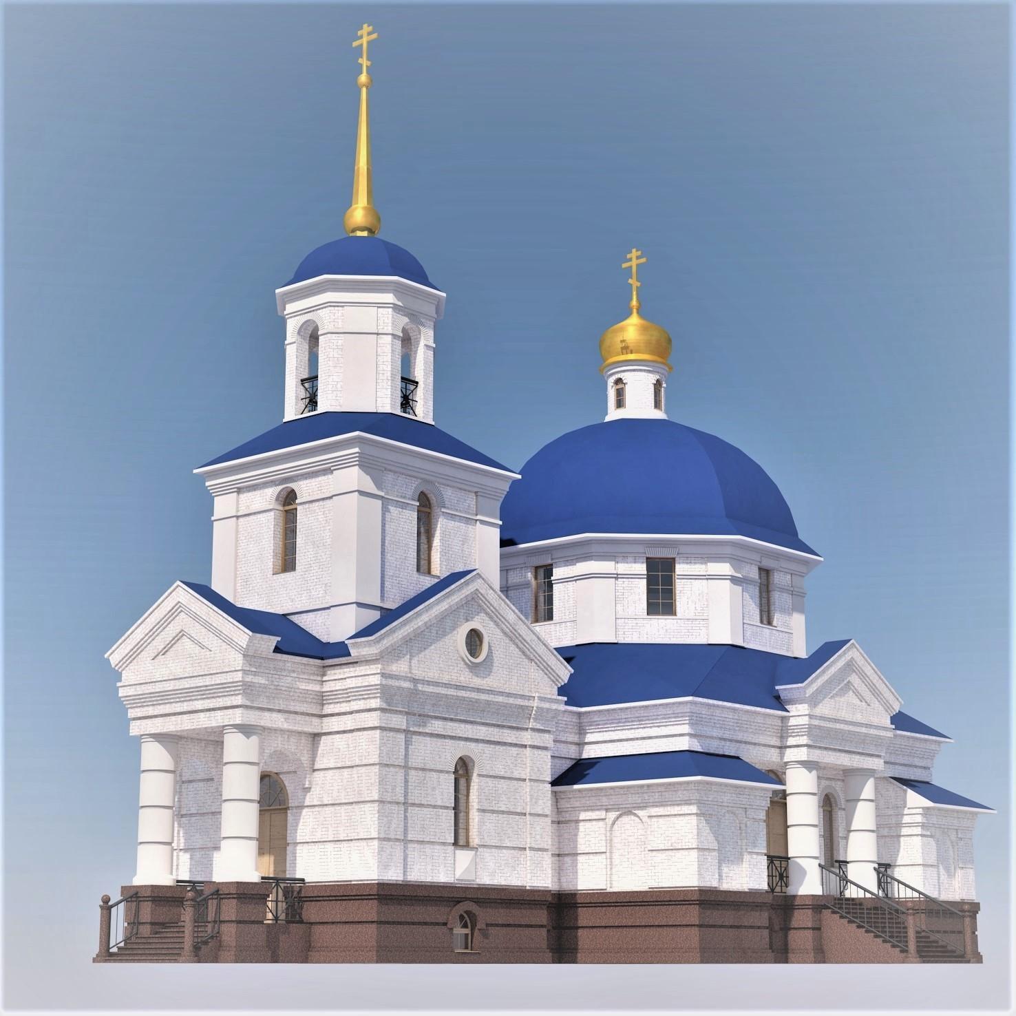Храм в селе Кривец Липецкой области. Архитектор Антон Коста