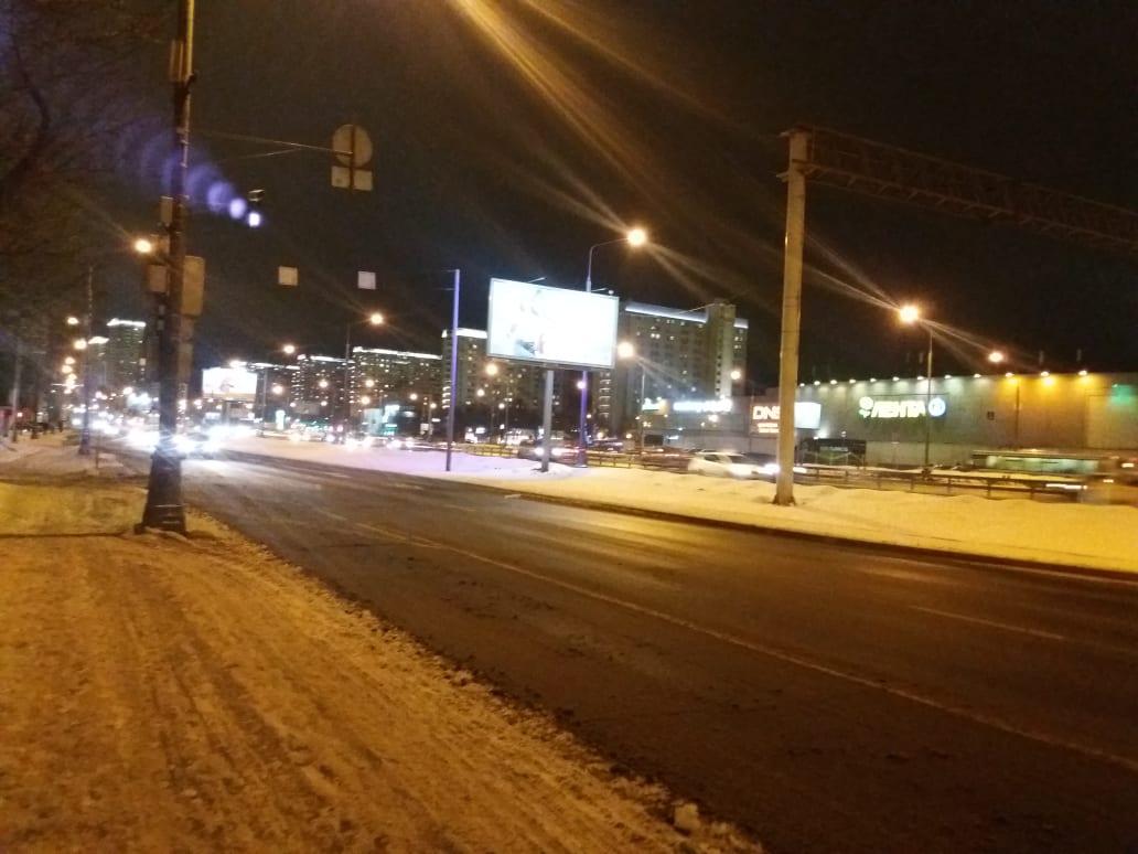 Ярославское шоссе ночью. Москва