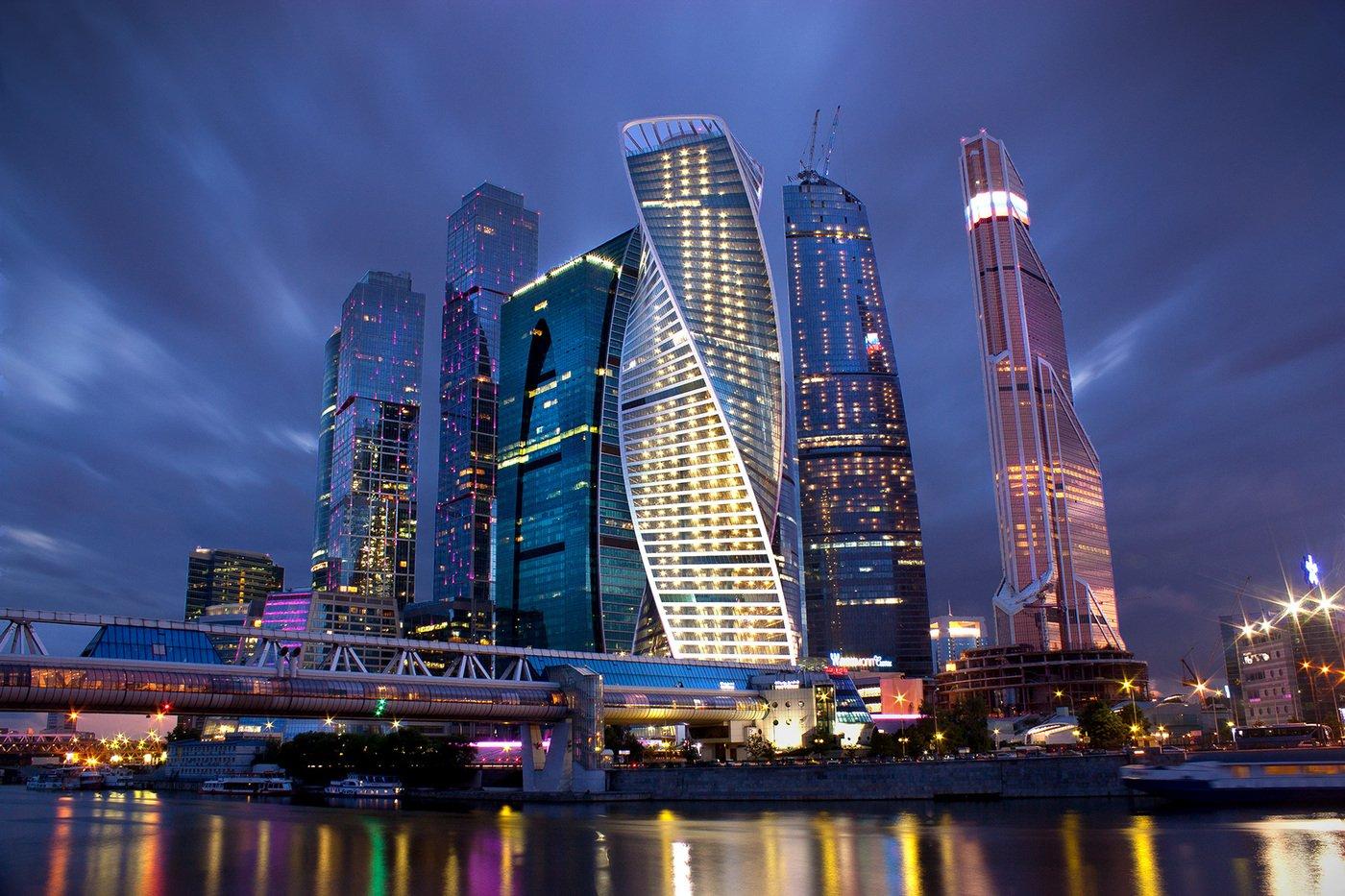 """Московский Даунтаун (англ. Downtown, букв. — «нижний город») — Москва-сити, Москва. Центр международной коммерции и финансовое """"сердце"""" столицы"""