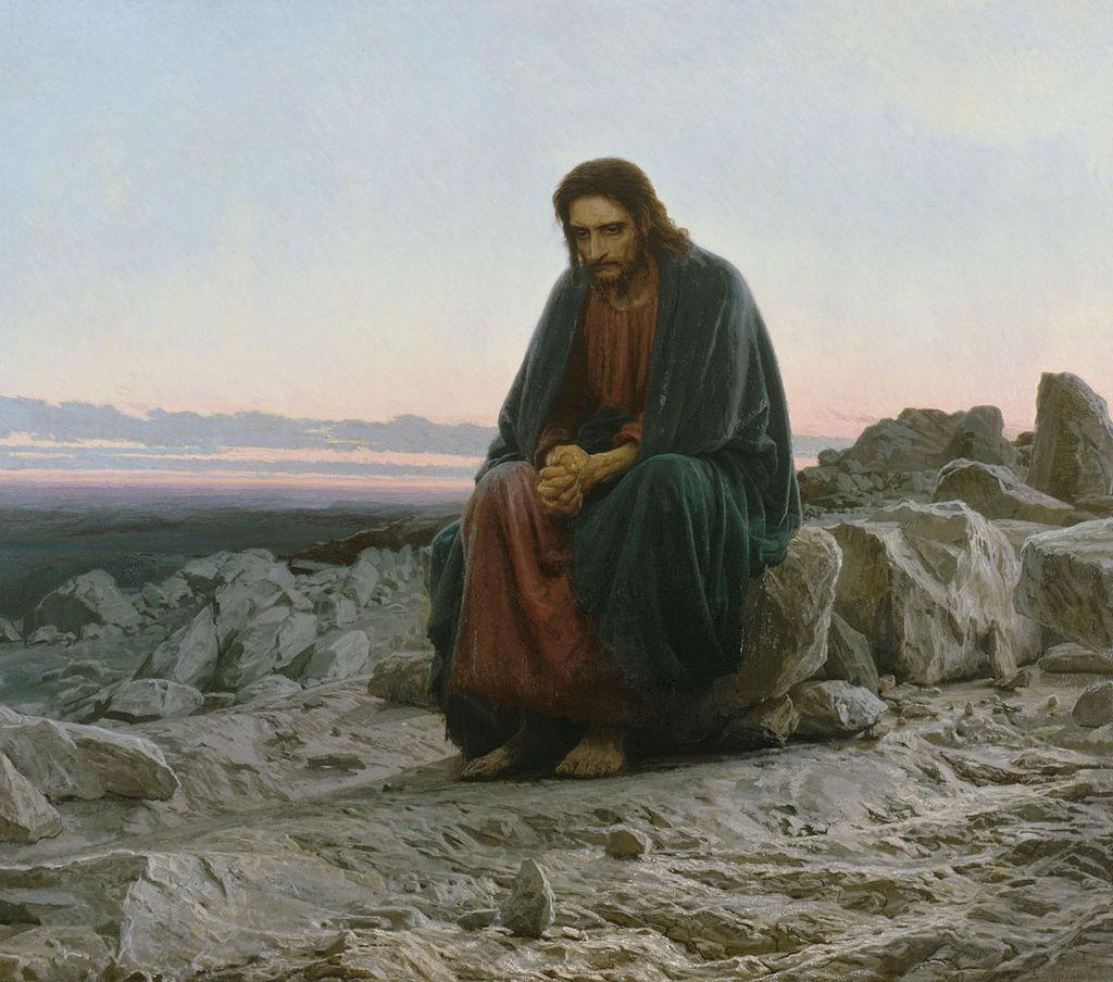 Христос в пустыне. Иван Крамской