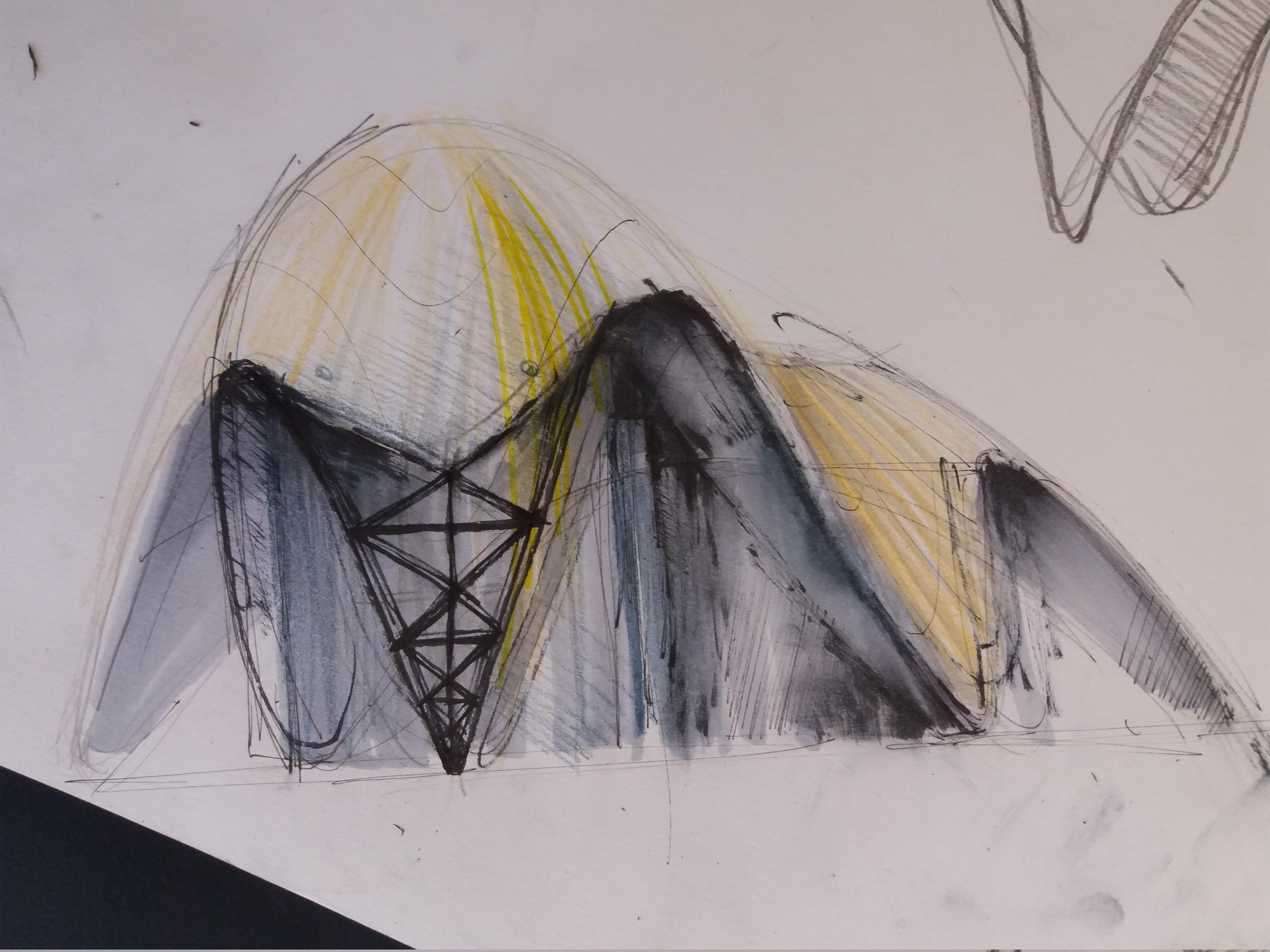 Эскиз. Ручная графика. Автор — Рахмонов Р.Р. Sketch. Handmade graphics. Author - Rahmonov R.R.