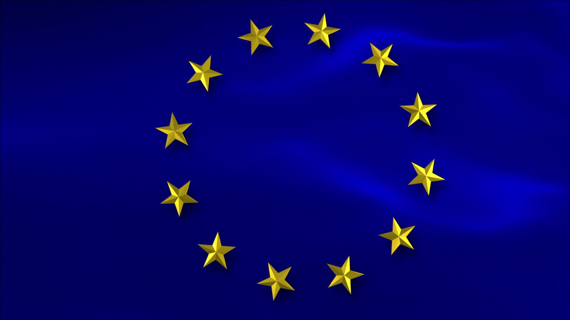 Флаг Европейского Союза как символ единства множества государств
