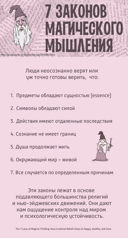 7 законов магического мышления на одной картинке