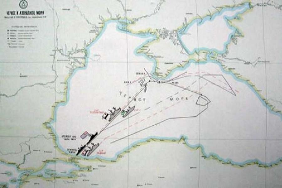 Морской таран Советского сторожевика в борт американского крейсера