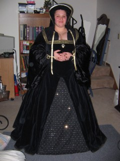 Kate in my black court fest dress
