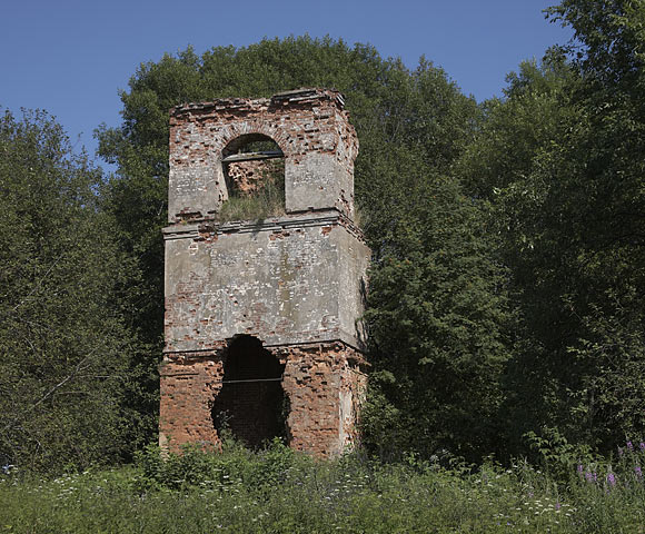 Заброшенная церковь в д. Горки, 19 век