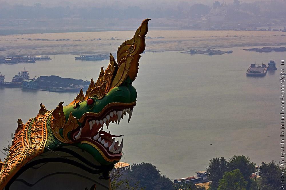 Вид на Иравади с холмов Сагайн