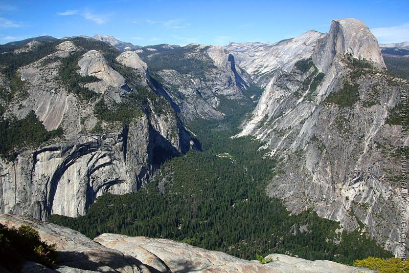 Долина Йосемити с Глейсер поинт