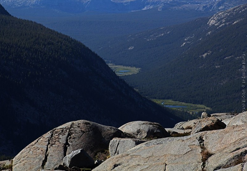 Вид на Lyell canyon