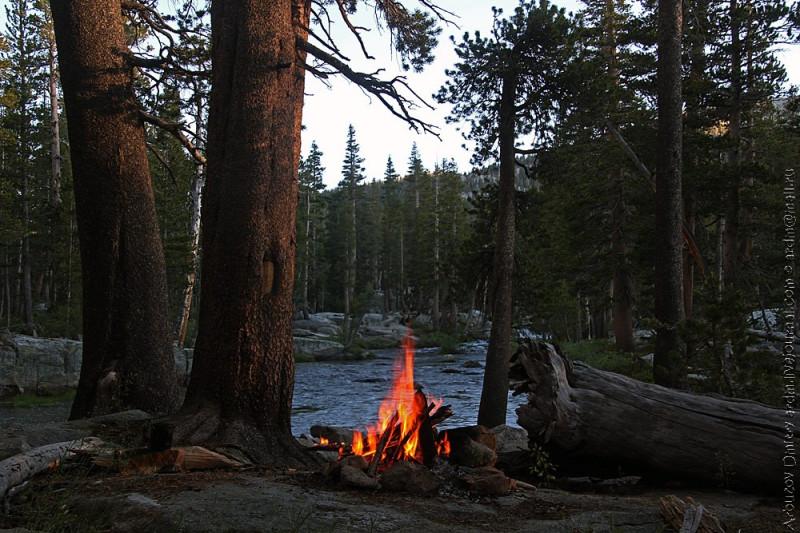 Ночевка в долине Bear creek