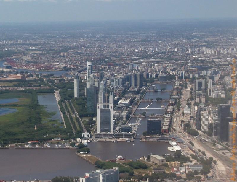 Центр Буэнос-Айреса с высоты