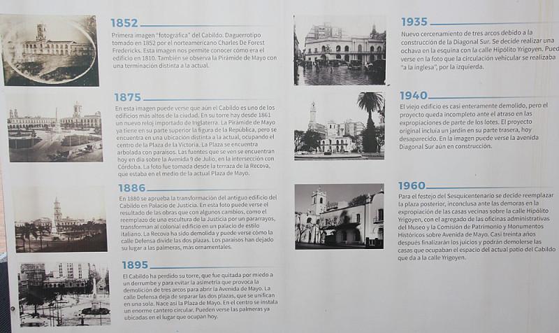 Площадь Де Майо в разное время своего существования