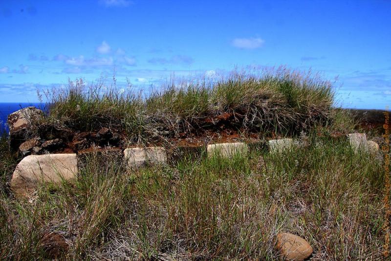 Цветной постамент - аху на полуострове Пойке