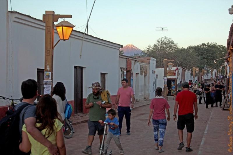 Вечер в Сан-Педро-де-Атакама