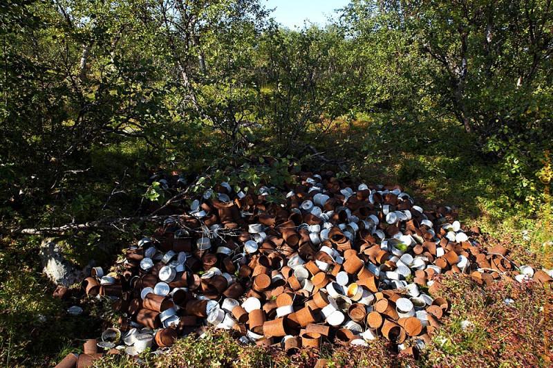 По сравнению с пластиком, мусорная помойка из консервных банок выглядит невинно. Тогда уже пластиком были забиты бухты... представляю, что сейчас