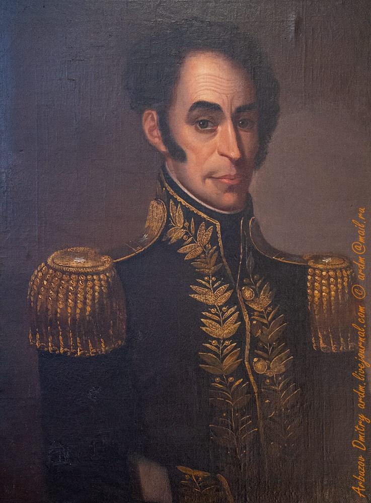 Портрет Боливара Francis Martin Drexel 1827