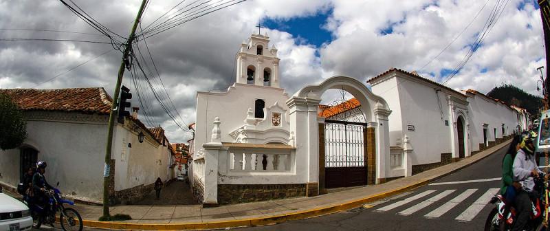 Сохранившийся квартал Iglesia Santa Teresa