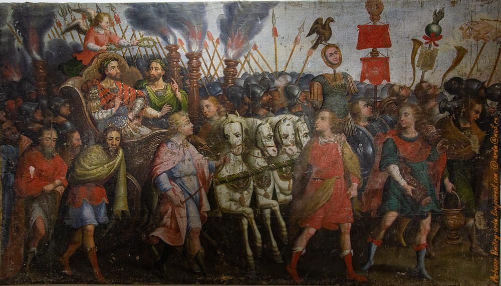 Триумфальный въезд Карла V в Вену, 1 пол 17 в