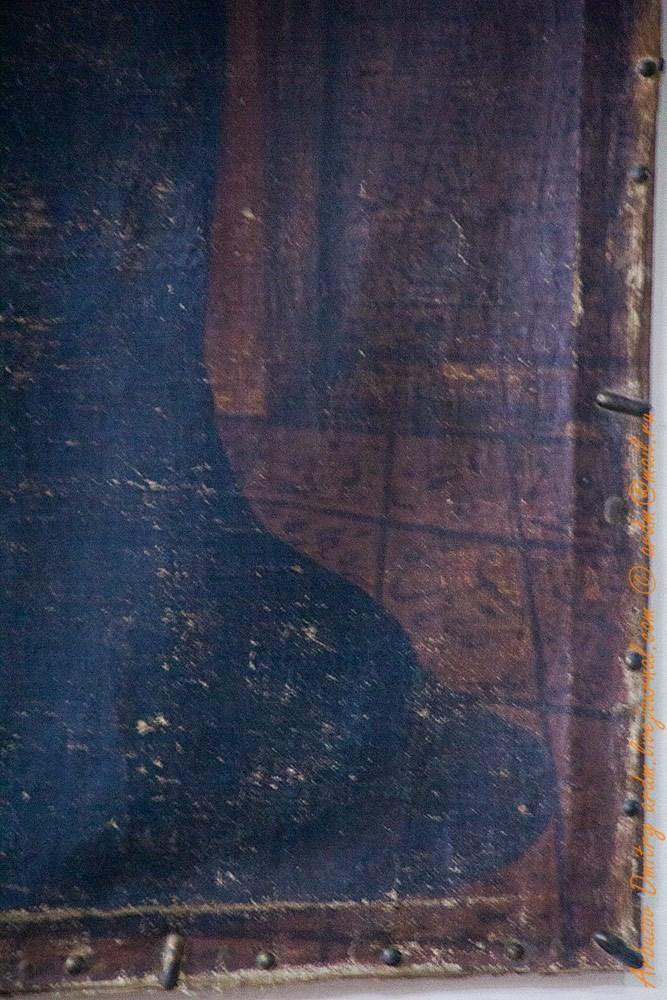 Фрагмент - арабские и славянские (?) надписи на картине. Происхождение картины не известно
