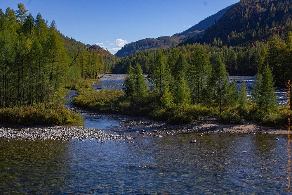 Река Ока на Окинском плато