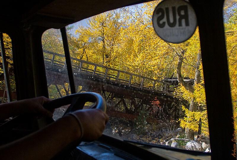 На 110-ой ещё видны мосты через реки, воздвигнутые в 70-ых 20 века