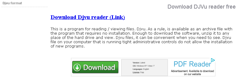 Download DJVu reader free