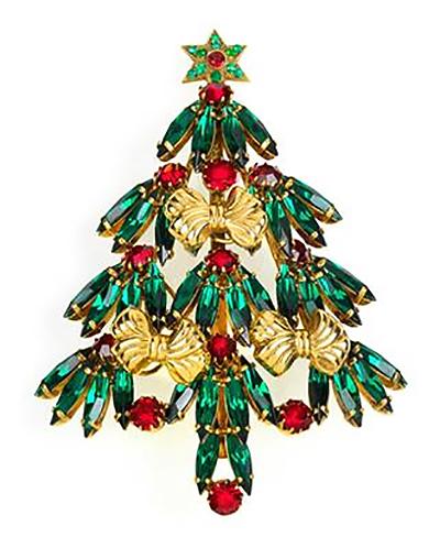 christmas tree brooch Rudolf Weiss