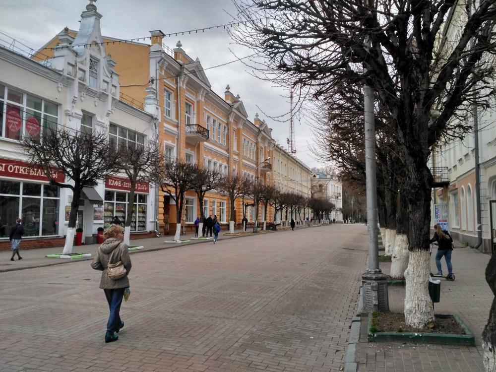 Пешеходная зона улицы Ленина