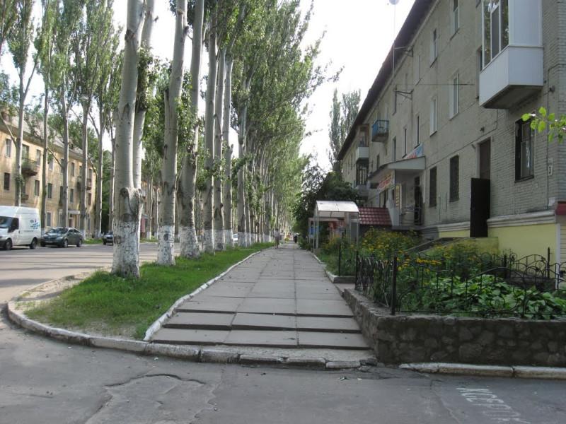 Начало улицы Ленина и те самые тополя. Сирень, к сожалению, вырубили много лет назад, чтобы шальные пешеходы не выскакивали прямо под колеса автотранспорта. Фото с сайта mapio.net