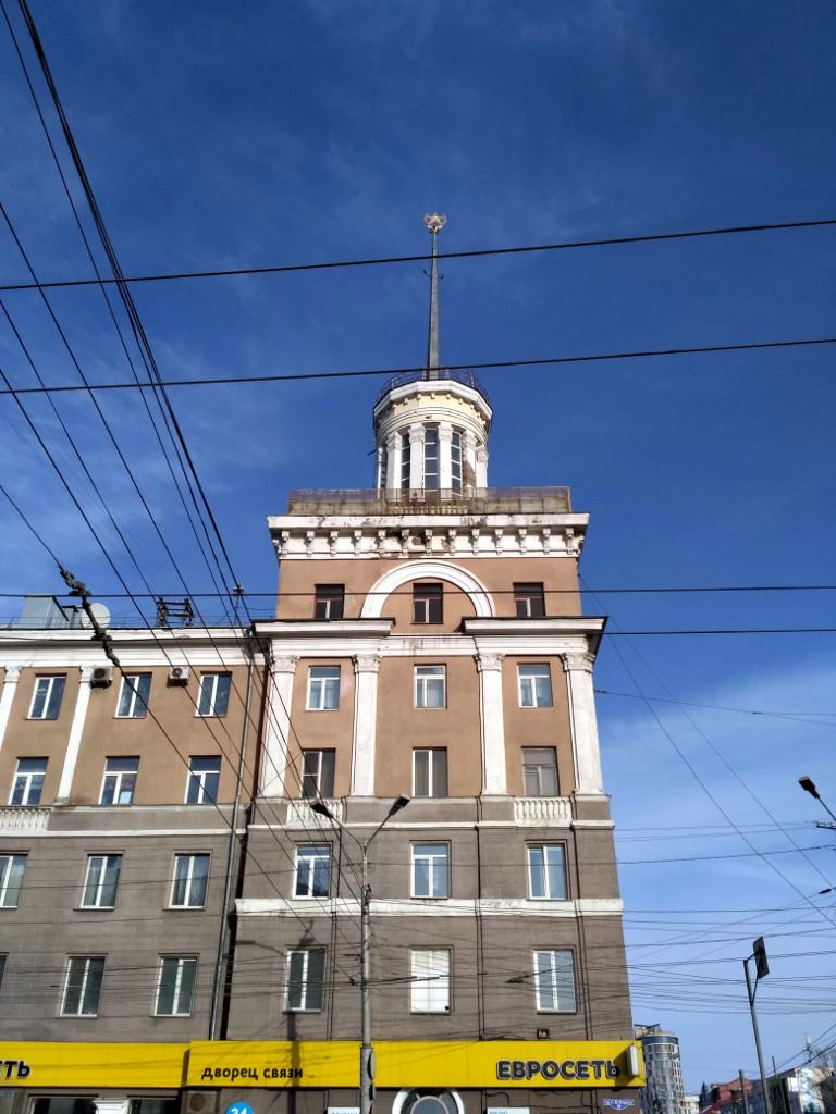 """""""Дом со шпилем"""". Построен в 1951 г. немецкими военнопленными, как жилой дом для руководства Омской области"""