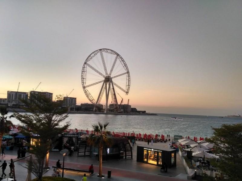 """Строящееся напротив гигантское колесо обозрения """"Глаз Дубая"""" (210 м) на острове развлечений Blue Water Islands"""