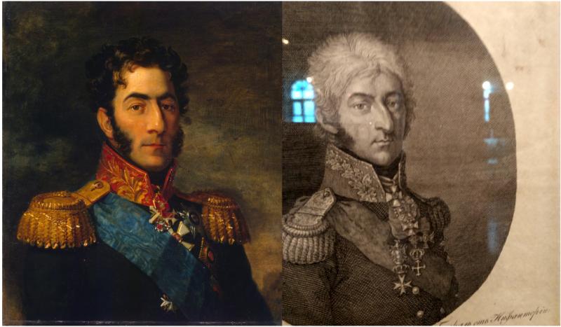 Вот, например, сравните хотя бы портреты Багратиона…