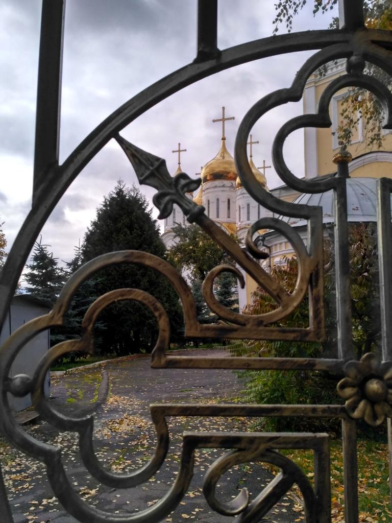 Брянск. Ограда кафедрального собора Пресвятой Троицы