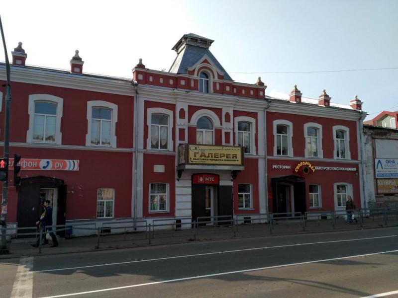 Симпатично выглядит и здание городской художественной галереи (1918 г.). Не хотите узнать что вам предложат посмотреть за 50 руб.?