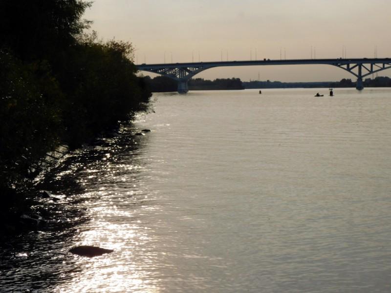 Красавица Волга и Дубненский мост, соединяющий две половинки города