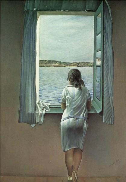 dali - woman near the window