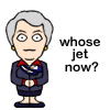Whose jet now